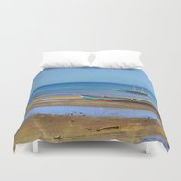 philippines Duvet Covers featuring Philippines beach by Maria Zborovska