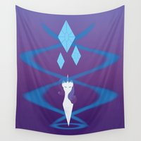 mlp Wall Tapestries featuring Magic Circle: Rarity by Mayiamaru