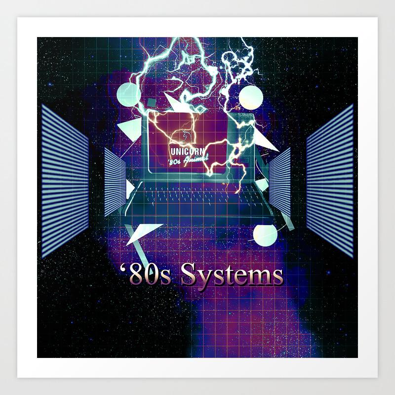 Old '80s Computer Art Print
