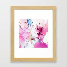 Pinky Swear (Abstract Paint Photograph) Framed Art Print