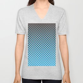 Brown diamonds with blue background geometric pattern Unisex V-Neck