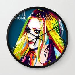 WPAP Avril Lavigne Wall Clock