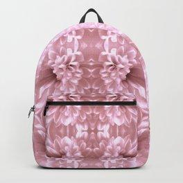 Pastel Old Rose Flower Pattern Backpack