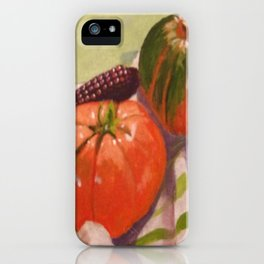 Pumpkin, Tomato and Corn Still Life iPhone Case
