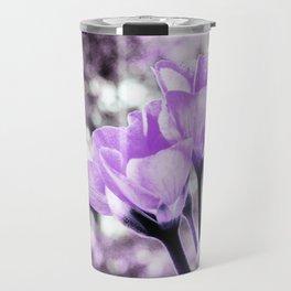 Ultraviolet Lavender Flowers Travel Mug