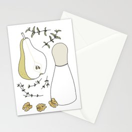 Pear Salad (Illustrated Recipe) Stationery Cards