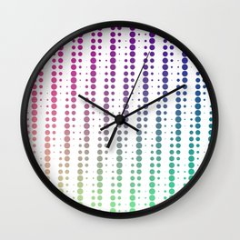 Dots in a half tone Wall Clock