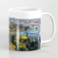 vienna Mugs featuring my hometown of Vienna by MehrFarbeimLeben