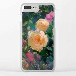 Roses & Fruits Clear iPhone Case