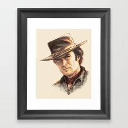 Clint Eastwood tribute Framed Art Print