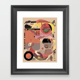 Ellipse Framed Art Print
