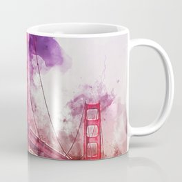 Golden Gate Bridge - Watercolor Coffee Mug
