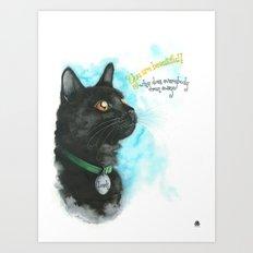 Black Cat-2 Art Print