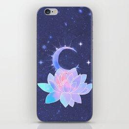moon lotus flower iPhone Skin