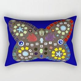 Namaste Mosaic Butterfly Rectangular Pillow