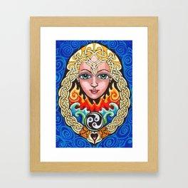 Saint Bride Framed Art Print