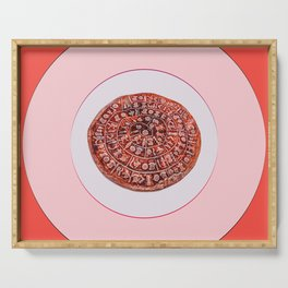 Phaistos Disc in Pink Frame Serving Tray