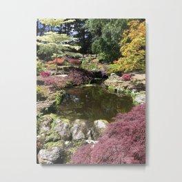 Japanese Garden in Jersey Metal Print