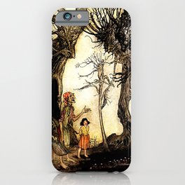 """The Trees and the Axe"" by Arthur Rackham iPhone Case"