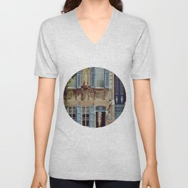 Blue Shutters in the Sun Unisex V-Neck