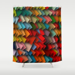 colorful rectangles with shadows Shower Curtain