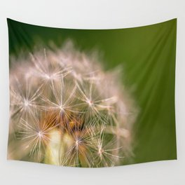 Snowglobe - Macro Photograph of Dandelion Wall Tapestry