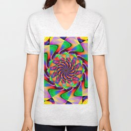 frequency mandala Unisex V-Neck