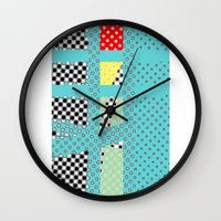 dots Wall Clocks featuring DOTS by  ECOLARTE