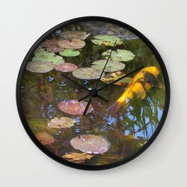 Koi Pond and Lilypads Wall Clock