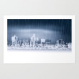City in Win Art Print