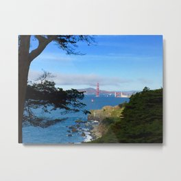 Golden Gate Bridge San Fran Metal Print