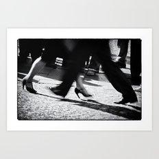 Tango Feet 2 Art Print