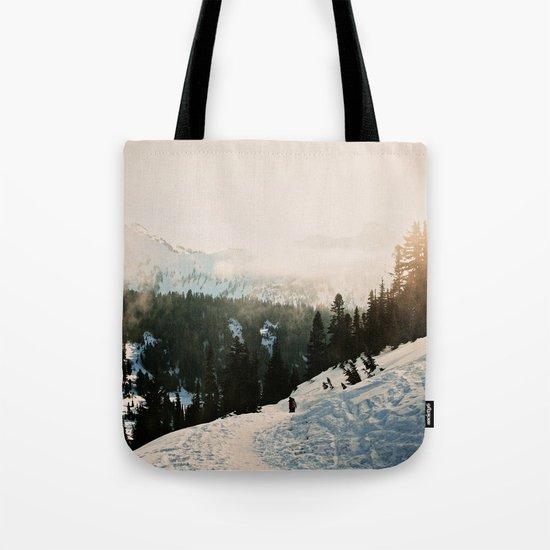 Winter Mountain Hike Tote Bag
