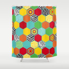 Titi Minin Hex_1 Shower Curtain