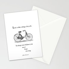 You Must Keep Moving Stationery Cards
