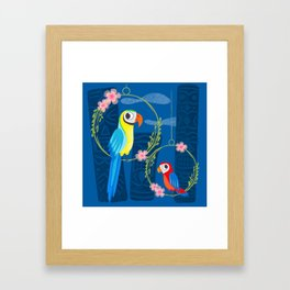 Squeaky Beakies With Freaky Tikis Framed Art Print