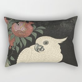 Cockatoo and Pomegranate 柘榴に鸚鵡 Rectangular Pillow