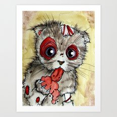 LOL zombie cat Art Print