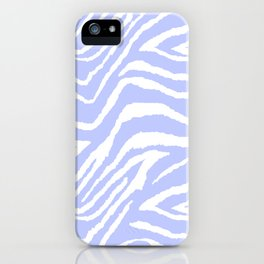 ZEBRA PURPLE AND WHITE ANIMAL PRINT iPhone Case