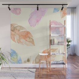 Feather Leaves Wall Mural