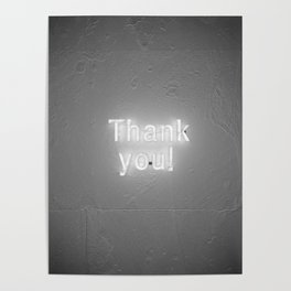 Thank You (Black and White) Poster