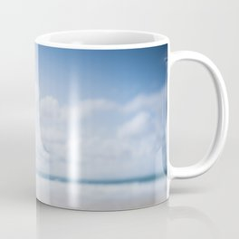 tilt and shift Lifeguard flag, Fistral Beach, Cornwall Coffee Mug