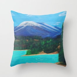 Emerald Lake, Yukon Throw Pillow