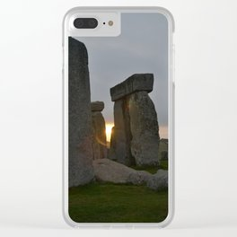 Stonehenge at sunrise Clear iPhone Case