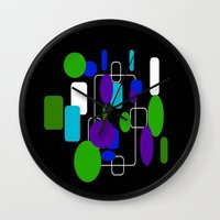 community Wall Clocks featuring Community by lillianhibiscus