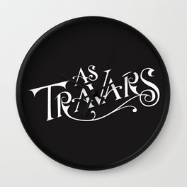 As Travars - to travel (white) Wall Clock
