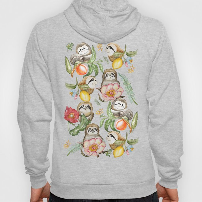 Botanical and Sloths Hoody