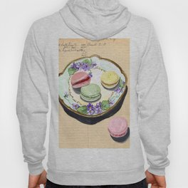 Macarons on an Antique Plate in Gouache Hoody