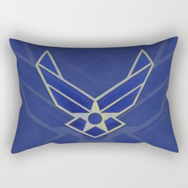 Air Force Logo Rectangular Pillow