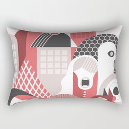 People in the City Rectangular Pillow